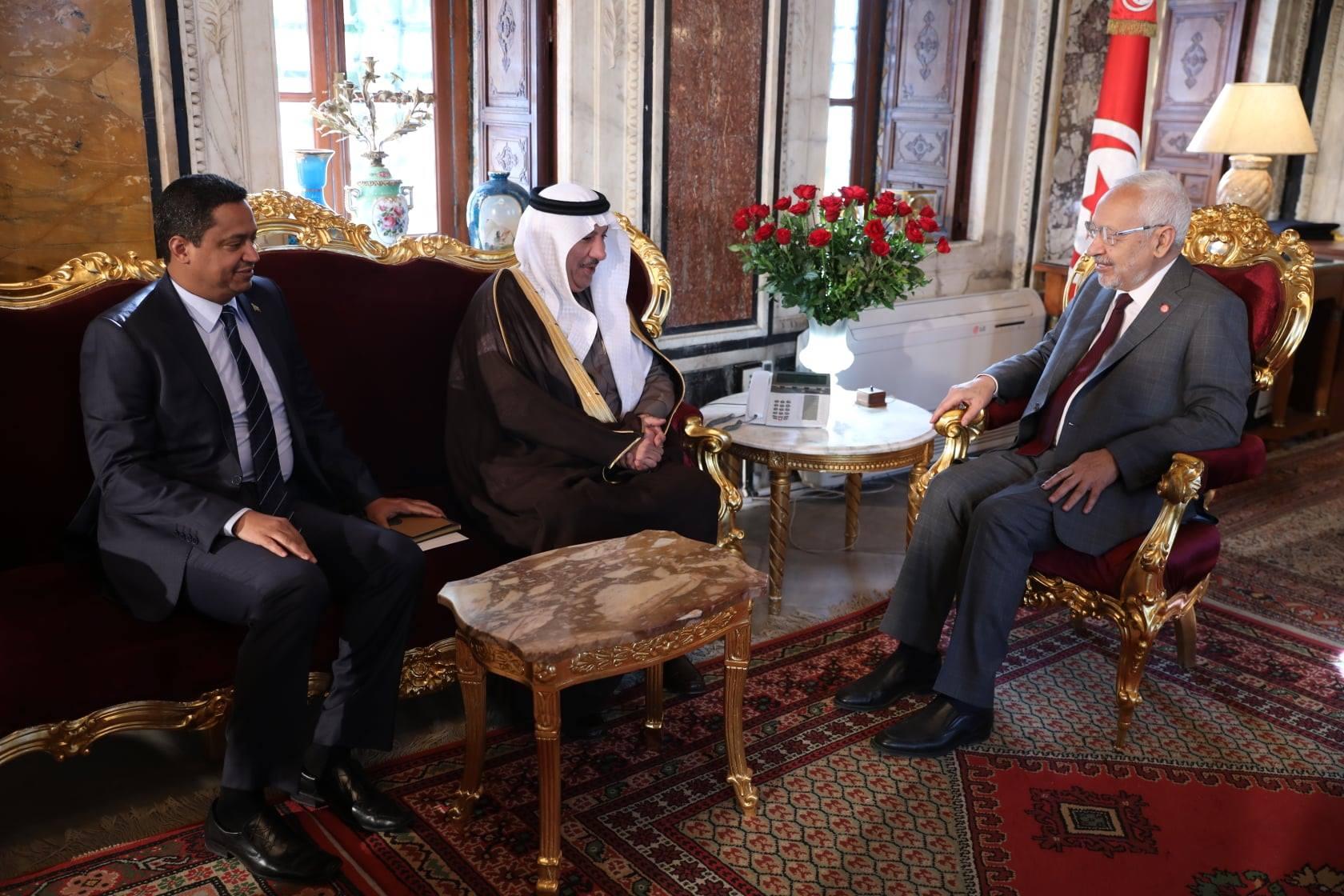 ملك السعودية يهنا الغنوشي
