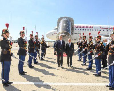 وزير الخارجية الفرنسي في استقبال الرئيس قيس سعيد