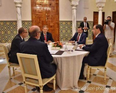 صورة اليوم: المشيشي يلتقي رؤساء حكومات ما بعد الثورة